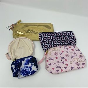 Bundle of 5 small cosmetic bags